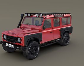 3D model Land Rover Defender 110 Custom v2 with interior