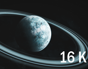 blue 16K Photorealistic Ice Planet 3D model