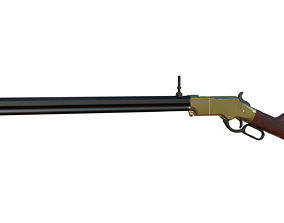 Henry Rifle 1860 3D model rigged
