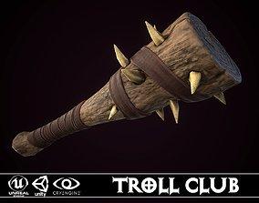 Troll Club 3D asset