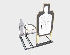 3D asset Low Poly PBR Police Target