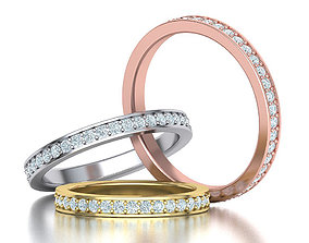Diamond Eternity Wedding Band many 3D printable model