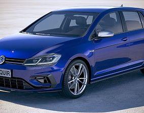 3D Volkswagen Golf R 2018