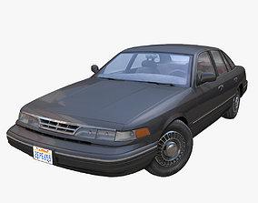 American 90s generic sedan 3D asset