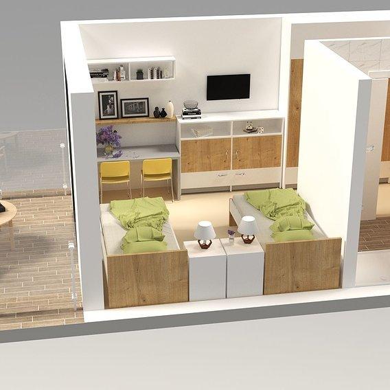 Nursing home room visualization
