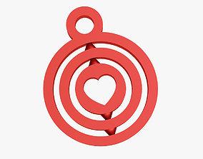 3D printable model Heart symbol keychain