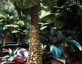 Fantasy and Alien vegetation 1 3D asset realtime