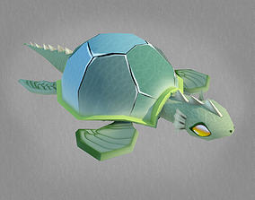 Turtle-Low Poly Character MAX 2011 3D asset