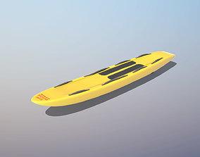 Lifeguard Rescue Board 3D model