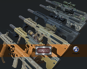 Modular Bullpup Rifle-Sniper Variant 3D model