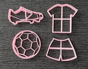 3D printable model Futbol pack - Cookie Cutters
