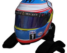 3D model Alonso Helmet 2016