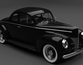 3D model Ford Deluxe coupe 1940