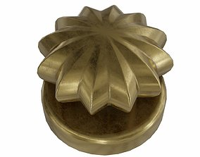 The old gold door handle 3D asset