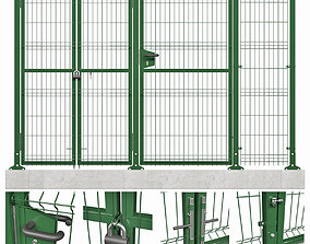 lattice 3D panel fence model