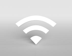 Wifi Symbol v1 001 3D asset