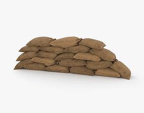 3D Sandbags Barricade