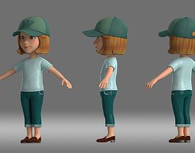 3D girl woman people cartoon animation role