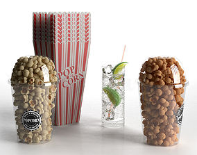 3D Popcorn and Gin Tonic