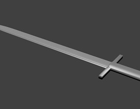 cutting 3D model Sword