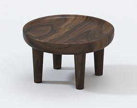 AFRICAN SAFARI TEAK SIDE TABLE 3D model