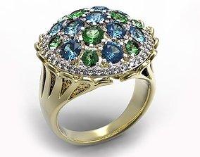 diamonds 3D printable model Ring