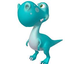 3D model turquoise Dinosaur