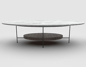 Sonder Living - Olivia Coffee Table - White Lacquer 3D