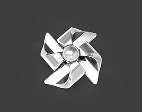 Pinwheel stud earrings 3D print model