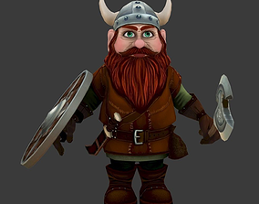 Gnome low poly game model VR / AR ready