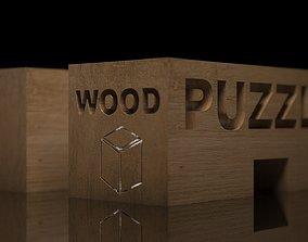 Cube Wood Puzzle 3D model low-poly