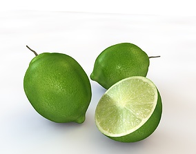 Lime fruit 3D asset