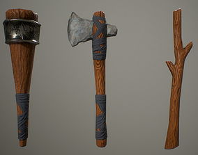 3D model Primitive weapons