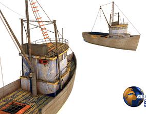 low-poly Lowpoly Fishing Boat 3D Model