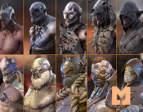 14 Characters Orcs Pack 3D