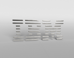 IBM Logo Version1 003 3D asset