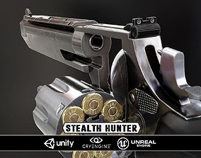 VR / AR ready Stealthhunter revolver - Model and Textures