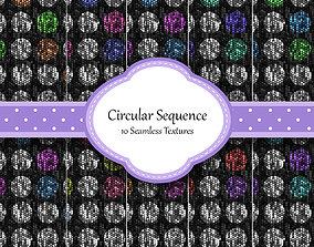 Circular Sequence Seamless Textures Set 3D