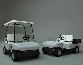 3D model rigged Golf Cart