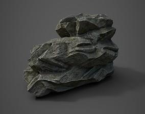 Rock formation 4 3D asset