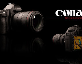 3D model game-ready Canon 5d camera