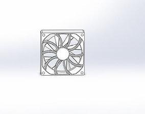 Computer fan 3D model plastic