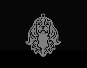 3D printable model Cavalier king Charles pendant