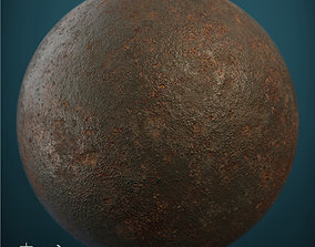 Rusted cast-iron seamless material 3D model