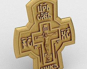 Cross 3D print model jesus