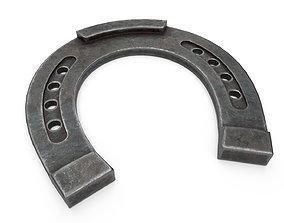 3D asset Horseshoe Old metal