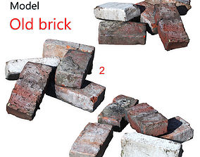 Ultra realistic Old Brick Scan 8k HD 3D model low-poly