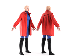 3D asset Female casual with separated coat