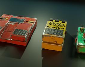 DIY Guitar Pedals 3D asset