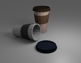 Lowpoly Coffee Cup 3D asset